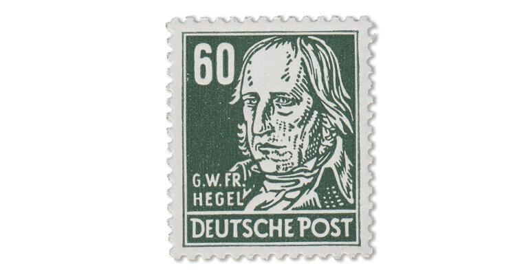 "DDR - 60 Pfg. ""Schwarzgrüner Hegel"" (Mi. Nr. 338 vb XI)"