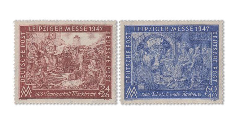 """Alliierte Besetzung - Berliner Druck """"flach fallend"""" (Mi. Nr. 941-42 II BZ)"""