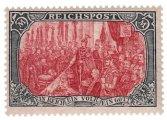 Briefmarke Deutsches Reich Reichspost 5 Mk