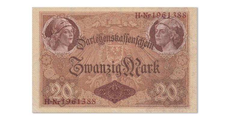 Deutsches Kaiserreich Darlehenskassenschein 20 Mark 1914 (DEU-55)