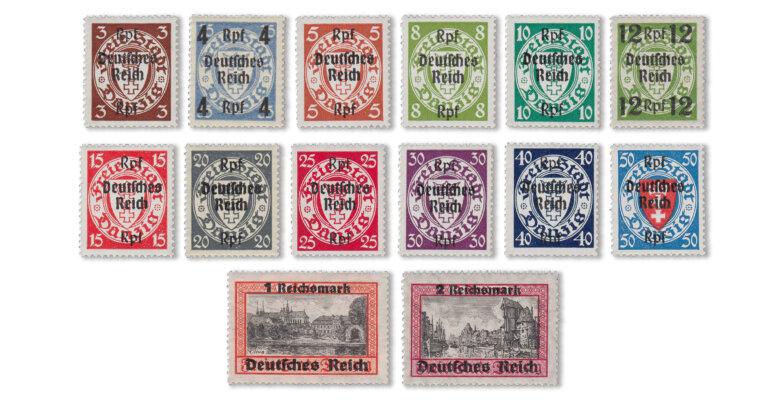 Deutsches Reich - Abschiedsserie (Mi. Nr. 716-29