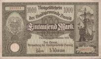 1000 Mark Schein Danzig