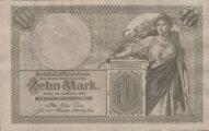 Kaiserreich Geldschein 10 Mark
