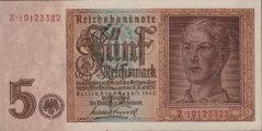 Fünf Reichsmark Drittes Reich