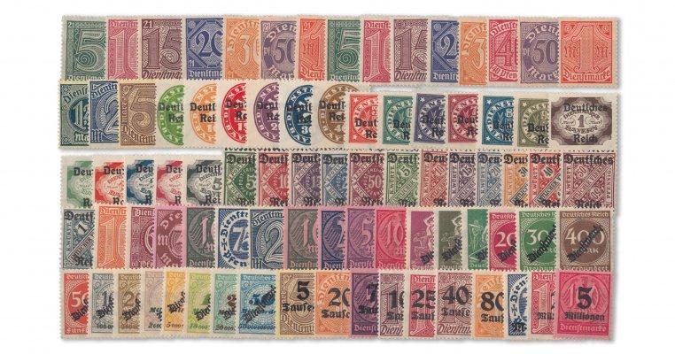 Deutsches Reich - Infla-Dienstmarken komplett (Mi. Nr. 16-98)
