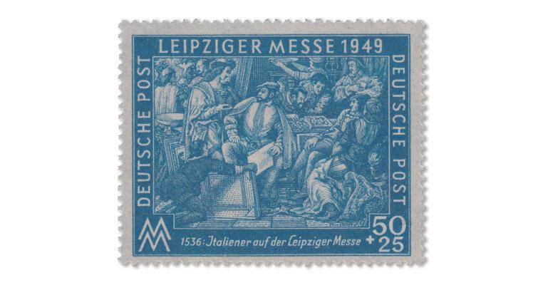SBZ Leipziger Messe 50 Pfg. Farb-Variante dunkelkobalt (Mi. Nr. 231 b)