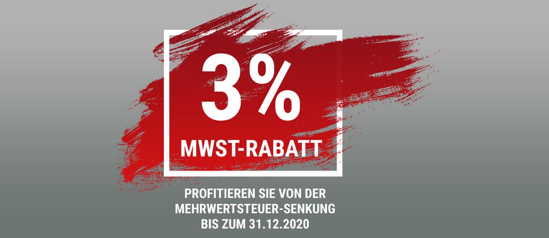 3% Mehrwertsteuer Rabatt