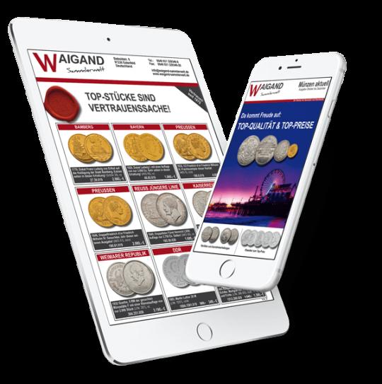 Online Katalog Blätterkatalog Münzen epub für Smartphone & Tablet