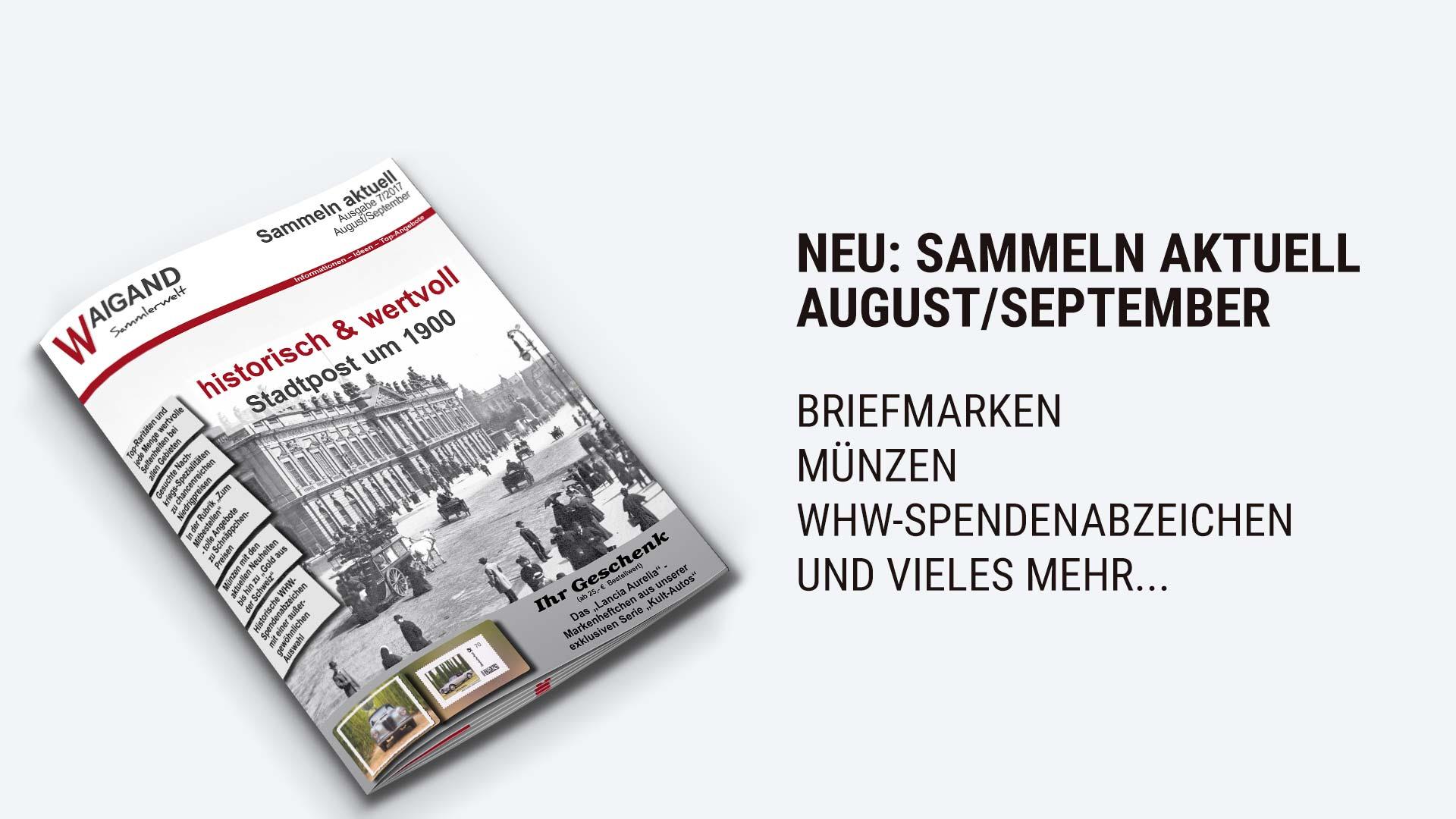 Neuer briefmarken katalog 2017 august september waigand for Neuer weltbild katalog