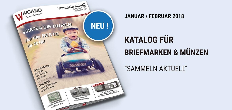 Neuer briefmarken m nzen katalog januar februar 2018 for Neuer weltbild katalog