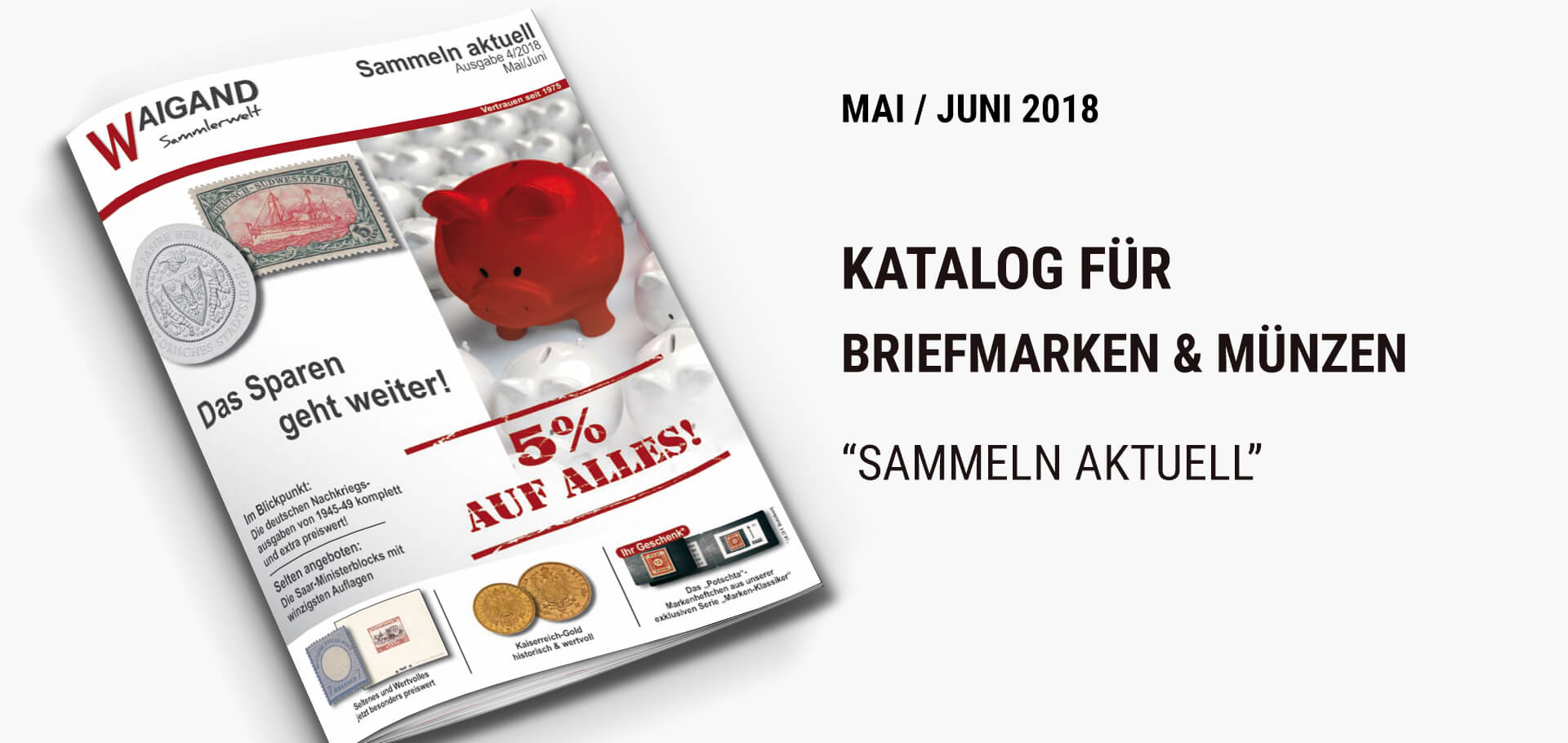 News Briefmarken & MünzKatalog 04-2018