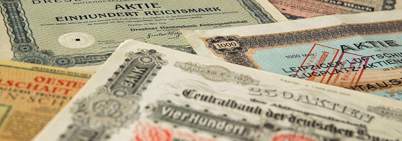 HWP Historische Wertpapiere vor 1925
