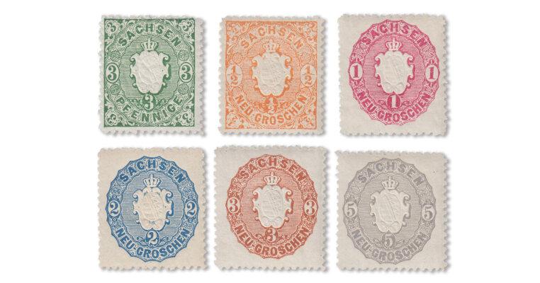 Altdeutschland - Sachsen-Marken 1863/67 (Mi. Nr. 14-19)