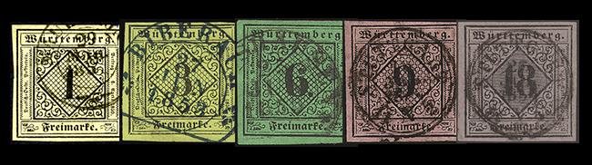 Die ersten Briefmarken Württembergs