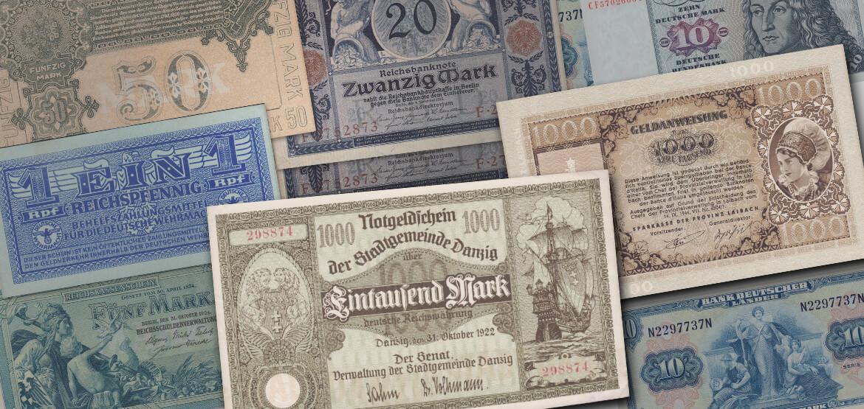 Neu im Sortiment: Alte Banknoten & Geldscheine