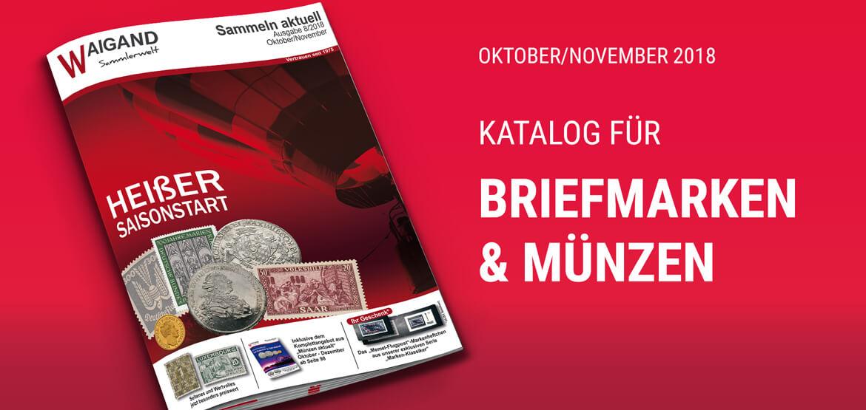 "News Neuer ""Sammeln aktuell"" Katalog Oktober/November 2018"