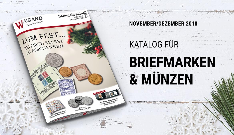 Highlights Im Briefmarken Katalog Inkl Münzen Im Dezember 2018