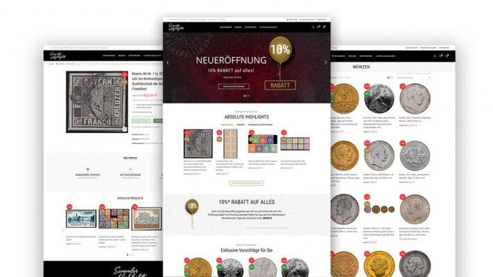 Online-Shop Sammler Highlights Briefmarken, Münzen